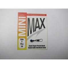 Адаптер для поплавка MiniMax style plastic head swivel with interlock (10шт)