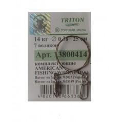 Поводок Тритон AFW тросик металл 7волокон