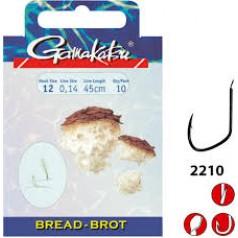 Крючок с поводком Gamakatsu BKD-2210G Bread 60cm