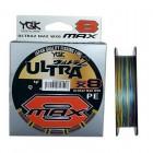 Шнур плетеный YGK Ultra2 MAX WX8 150m 0.6 (5.6kg) многоцветный